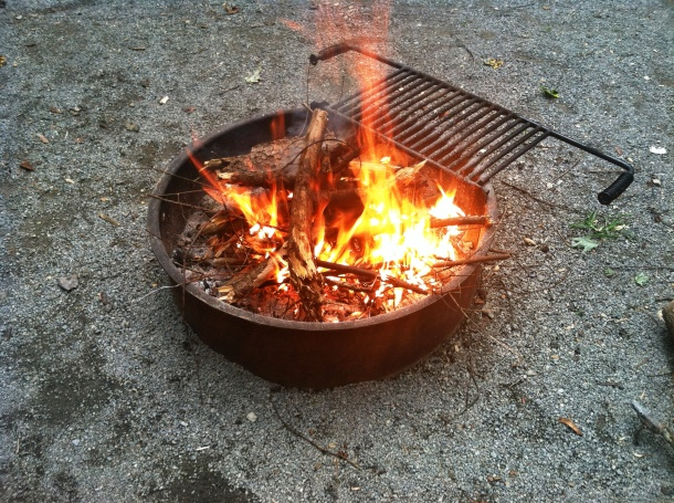 The fire I started!!