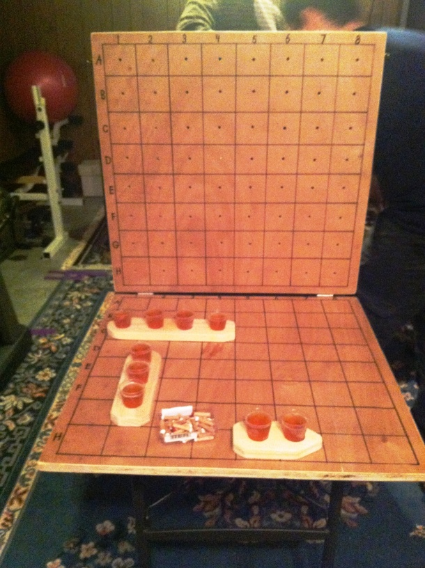 Our homemade Battleshots!