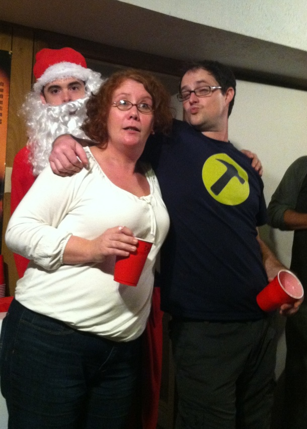 Photobombed by Santa