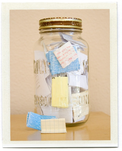 Keep a memory jar