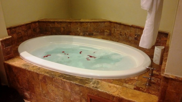 We loved the idea of the jacuzzi, but the bathroom was so humid that we couldn't really enjoy it.