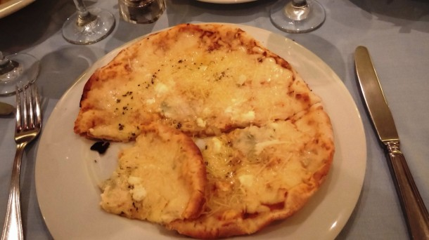 Four Cheese Pizza at Il Olivo