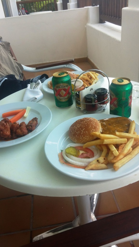 Room Service Lunch - Burgers and Wings
