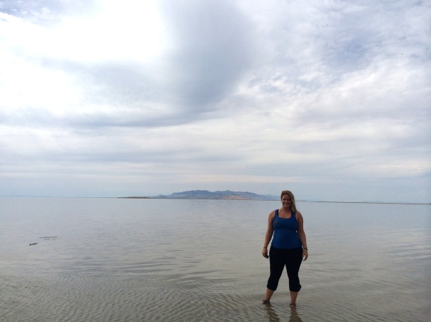 Standing in the Great Salt Lake