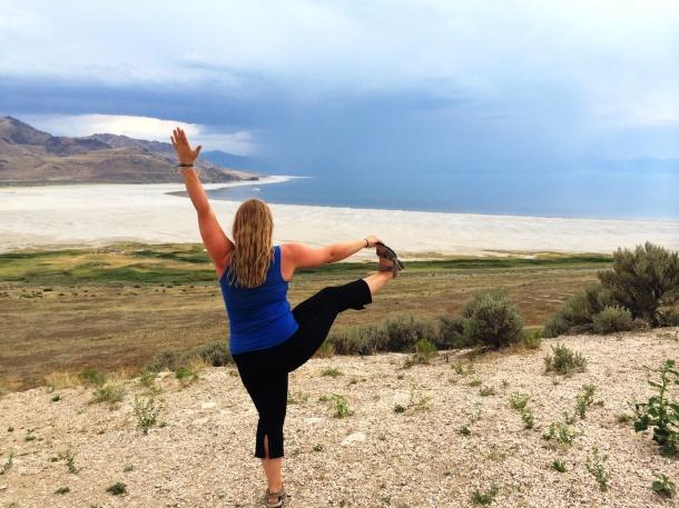 Yoga at the Great Salt Lake