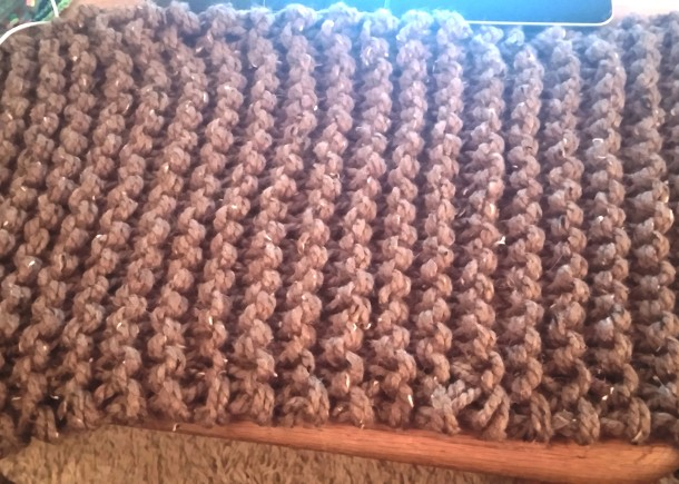 Outlander Cowl before seaming