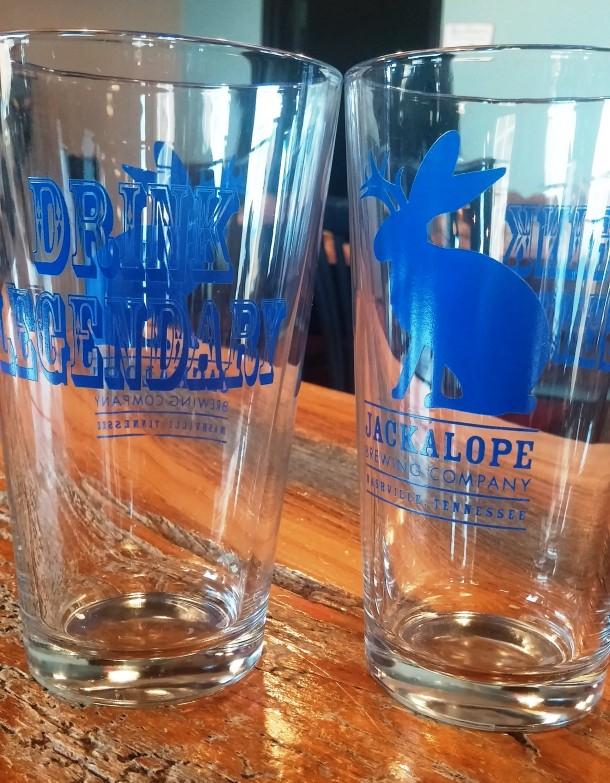 Jackalope Beer Glass
