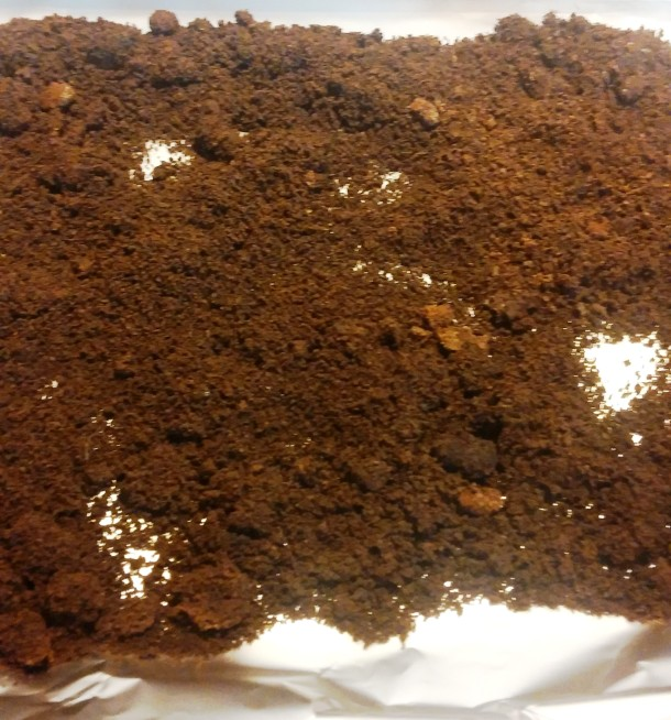 Baking Coffee Grounds