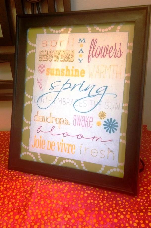 Spring Printable Closeup