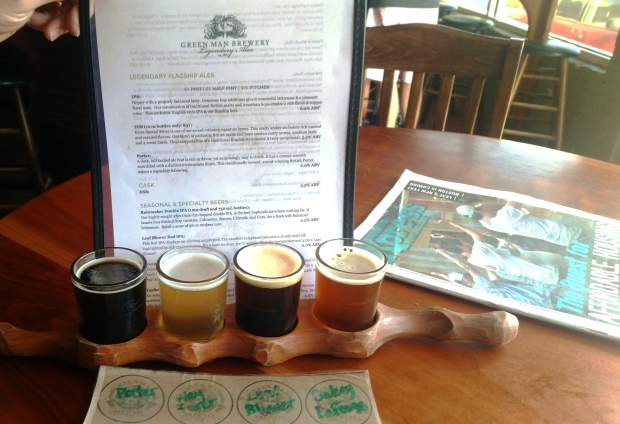 Flight at Green Man - all of them were delicious