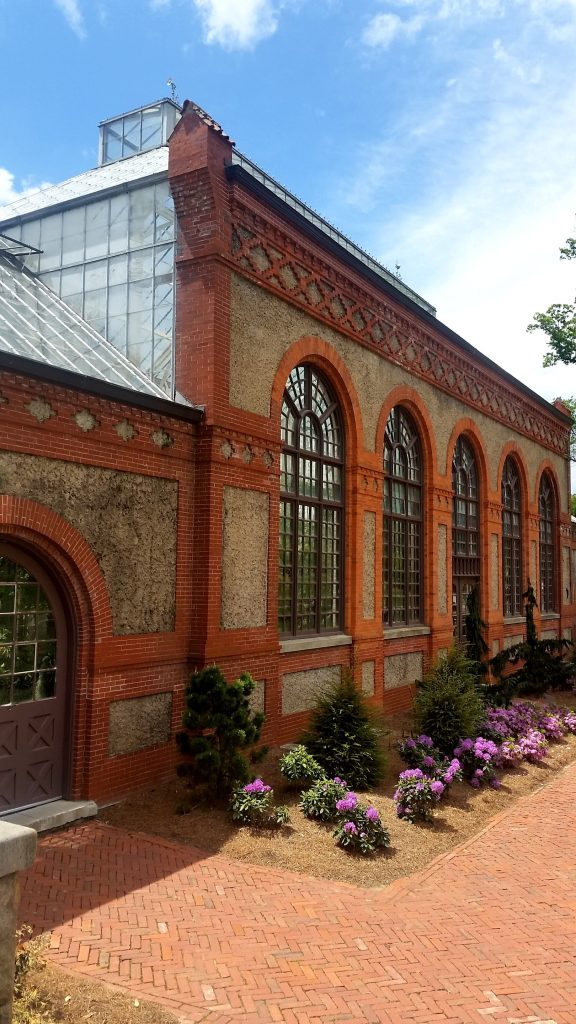 The outside of the Conservatory