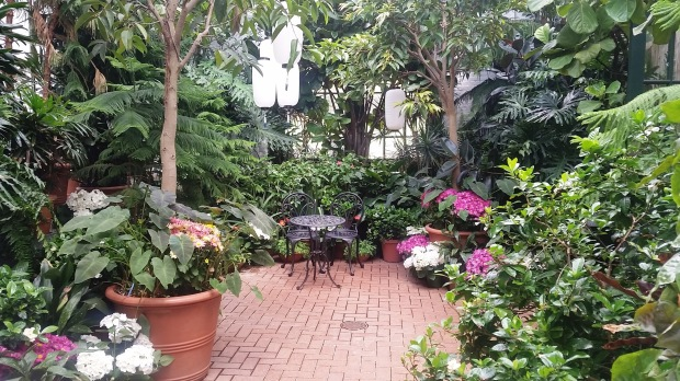 Inside the Conservatory, where I found this gorgeous little nook.