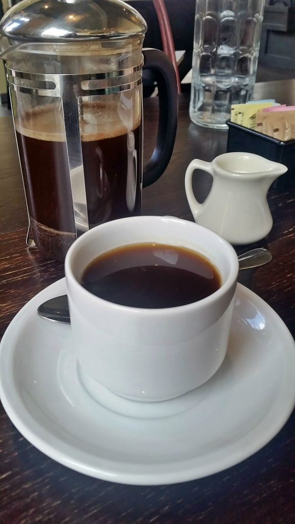French Press Coffee from Dynamite Roasting Company at The Blackbird, Downtown Asheville
