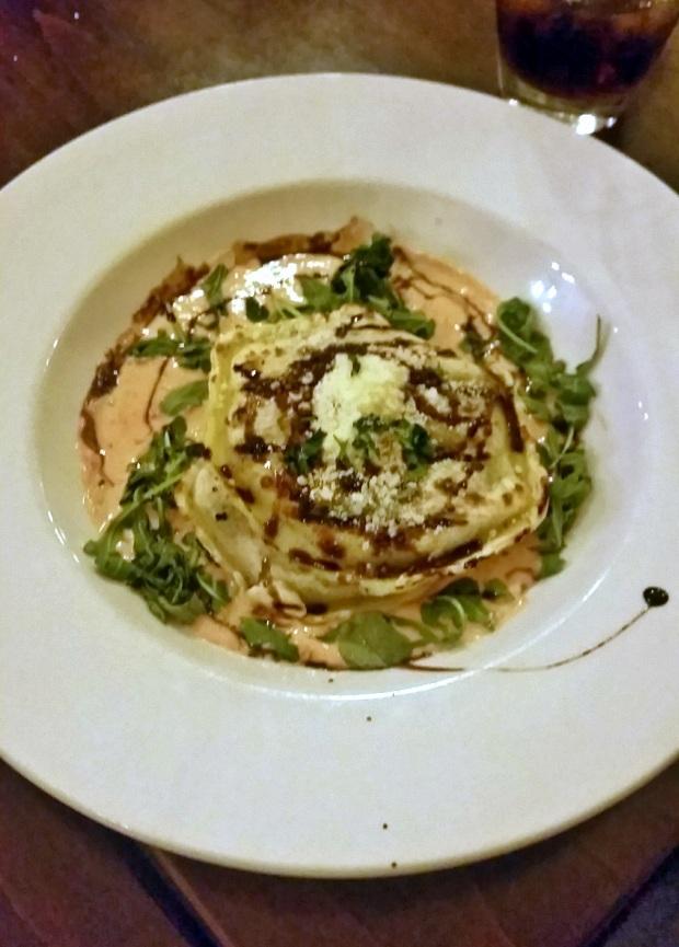 Grilled Florentine Ravioli at Strada, Downtown Asheville