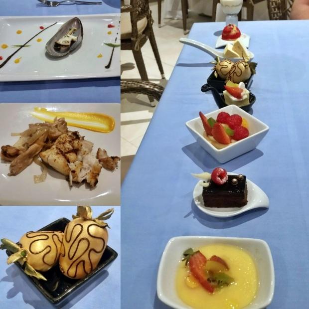 Oyster, Sea Bass, and Dessert at Dorado (Dinner), Royalton Riviera Cancun