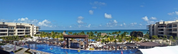 View from the lobby of the Royalton Riviera Cancun