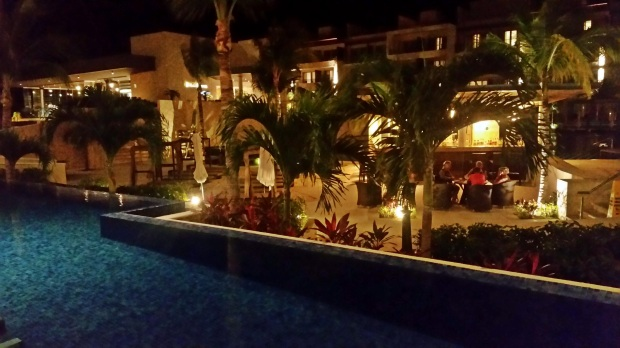 Night view from Room 3114 (Hideaway) at the Royalton Riviera Cancun